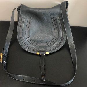 Chloe medium Marcie leather saddle bag